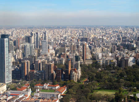 Aerial photo  Panorama of Buenos Aires, Argentina photo