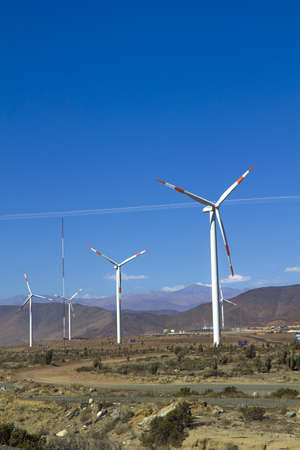 Wind farm in northern Chile, mining regions of Atacama and Coquimbo, Chile  photo