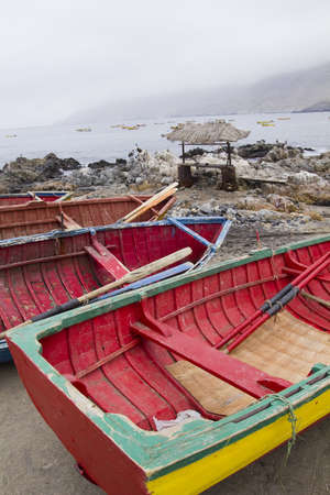 Traditional fishing boats, Pacific Coast of Chile photo