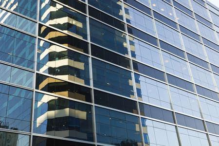 Modern glass reflection on modern building
