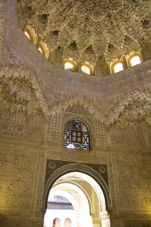 fourteenth: Room Two Sisters. Fourteenth century. Alhambra, Granada, Spain Editorial