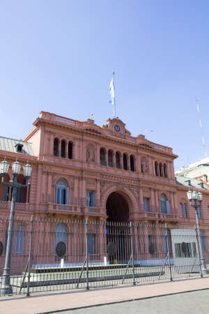 evita: Casa Rosada (Pink House) Presidential Palace of Argentina. May Square, Buenos Aires. Editorial