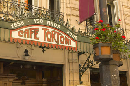 aires: Cafe Tortoni, in May avenue, Buenos Aires, Argentina. CafŽ Tortoni is the oldest coffee most famous Buenos Aires.