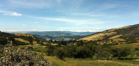 Panorama of Sumapaz National Park, Province of Santa Fe de Bogota, Colombia  Stock Photo