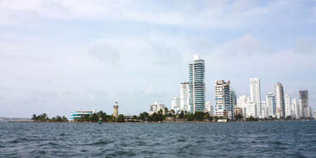 Cityscape of Cartagena de Indias, Colombian caribbean  photo
