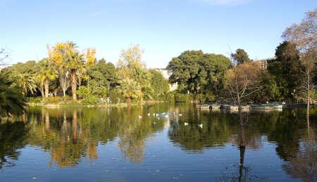 turismo ecologico: Ciutadella Park Garden Pond histórico de la ciudad de Barcelona, ??Cataluña, España
