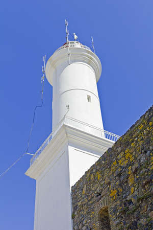colonia del sacramento: Lighthouse  The small town of Colonia del Sacramento, Uruguay, is one of the top tourist destinations for residents of Buenos Aires   Argentine and Uruguayan general  Stock Photo