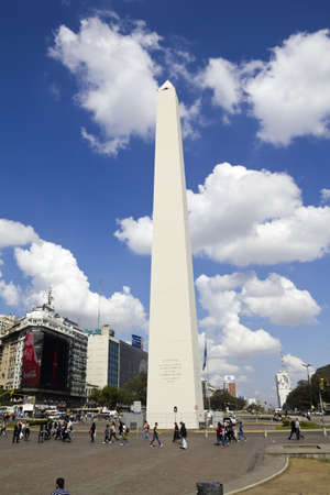 corrientes: BUENOS AIRES - SEP 12  Obelisco on September 12, 2012 in Buenos Aires  Located at the junction of Avenida 9 de Julio and Corrientes Street  Its name honors Argentina