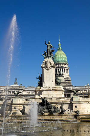 aires: Congress square monument in Buenos Aires, Argentina Stock Photo