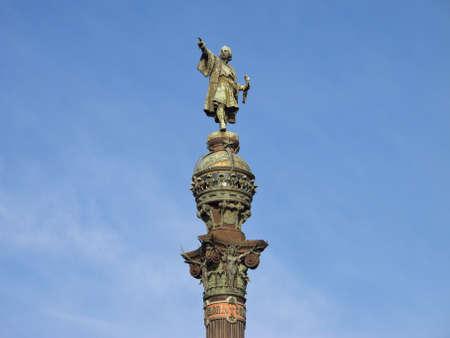 descubridor: Monumento a Cristóbal Colón, al final de La Rambla, Barcelona, ??España