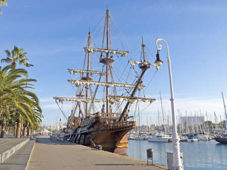 Old Frigate in the Barcelona photo