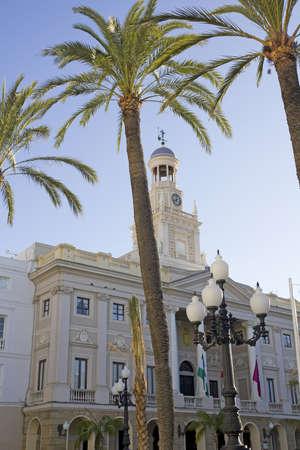cadiz: City Hall of Cadiz, Andalusia Spain Stock Photo