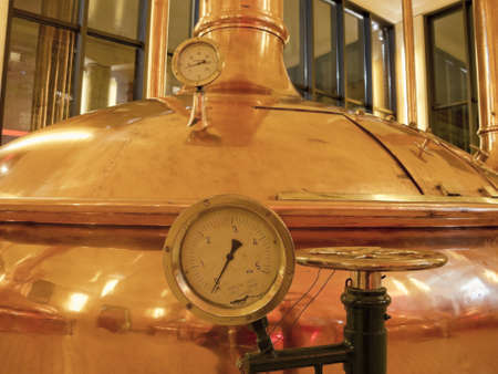 brew house: Temperature Gauge  Old style of brewing beer