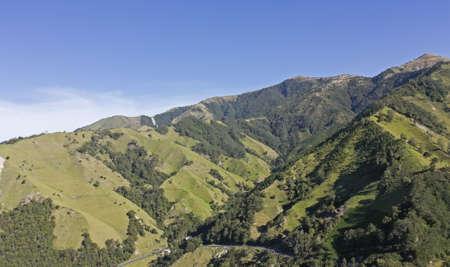cafe colombiano: Cordillera de los Andes, Colombia Los Andes son el mayor alcance continental de montaña en el mundo, es una gama continua de las tierras altas a lo largo de la costa occidental de América del Sur Foto de archivo