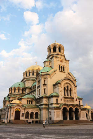 alexander: The St  Alexander Nevsky Cathedral, a Bulgarian Orthodox cathedral in Sofia, the capital of Bulgaria  Is one of the largest Eastern Orthodox cathedrals in the world Stock Photo