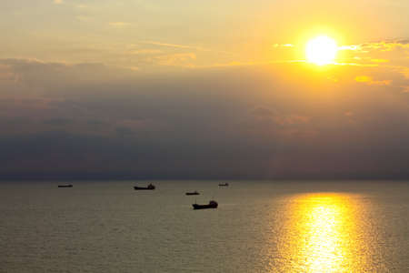 balchik: Ships in the Black Sea  Balchik, near Varna, Bulgaria