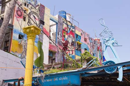 HAVANA, AUG 21  Graffiti in Alley Hamel on August 21, 2001 in Havana, Cuba  El Alley Hamel