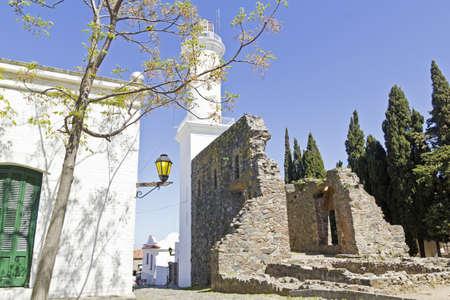 colonia del sacramento: Old street in Colonia del Sacramento, small colonial town, Uruguay