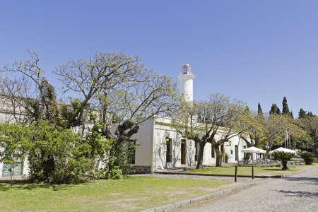 colonia del sacramento: Street of Colonia del Sacramento, small colonial town, Uruguay