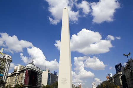 corrientes: BUENOS AIRES - SEP 12: Obelisco on September 12, 2012 in Buenos Aires. Located at the junction of Avenida 9 de Julio and Corrientes Street. Its name honors Argentina Editorial