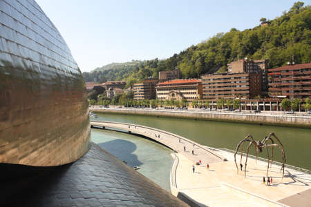 BILBAO, MAY 22: Panorama of Guggenheim Museum on May 22, 2010 in Bilbao, Spain. Guggenheim Museum is a design by architect Frank O. Gehry.