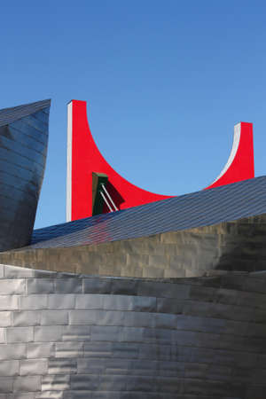 BILBAO, MAY 22: Fa�ade detail of Guggenheim Museum on May 22, 2010 in Bilbao, Spain. Guggenheim Museum is a design by architect Frank O. Gehry.