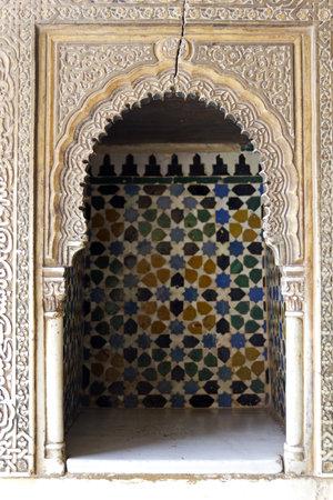 ambassadors: Hall of the Ambassadors in The Royal Complex. Alhambra, Granada, Spain