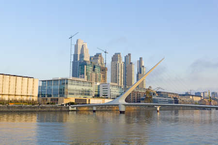 Puerto Madero neighborghood, touristic destination in Buenos Aires, Argentina. It is a modern, well-known for its restaurants, bars and entertainment area in general.