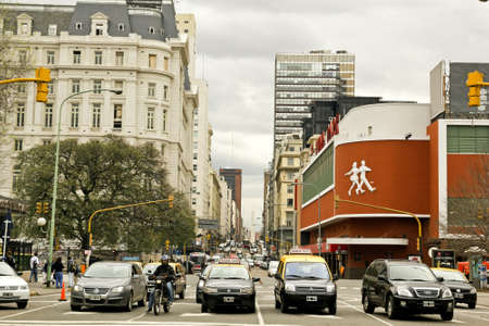 corrientes: BUENOS AIRES - SEP 20: Corrientes Avenue on SEPTEMBER 20, 2012 in Buenos Aires. The street is intimately tied to the tango and the porte�o sense of identity