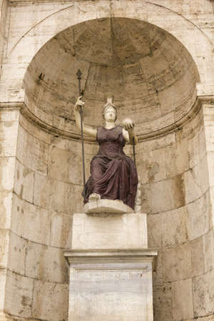 statue of Minerva, Piazza del Campidoglio, Rome, Italy, Europe photo