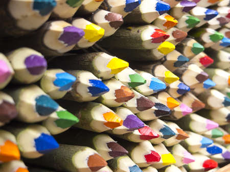 Colored pencils sale in San Telmo Market, Buenos Aires, Argentina Stock Photo - 19245640