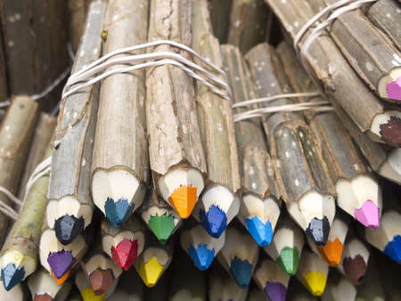Colored pencils sale in San Telmo Market, Buenos Aires, Argentina  photo