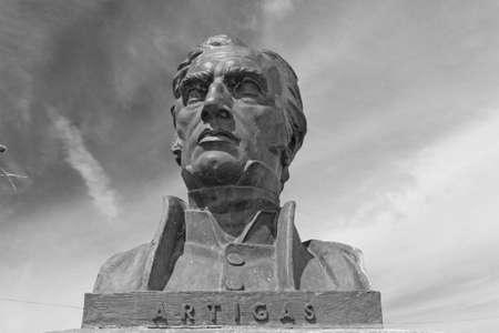 artigas: Statue of General Artigas, hero of the independence of the Republic of Uruguay