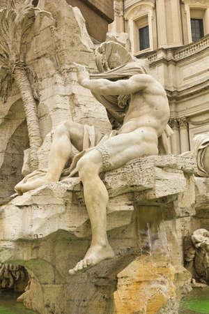 bernini: Statues from fountain in Piazza Navona Rome