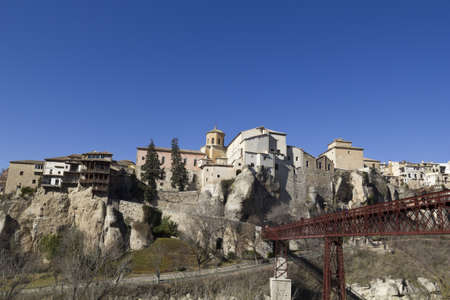 urban scenics: The Casas Colgadas  translated as Hanging Houses , also known as Casas Voladas, Casas del Rey and, erroneusly, Casas Colgantes, is a complex of civil houses located in Cuenca, Spain