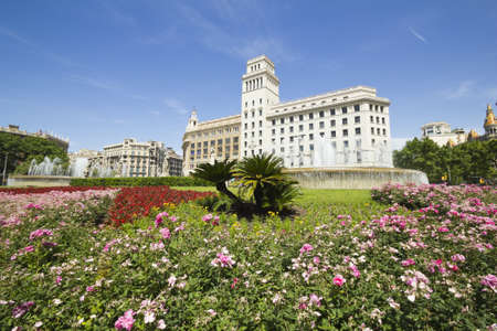 the Catalonia square  Plaça Catalunya in Catalan  is considered the exact center of the city of Barcelona  photo
