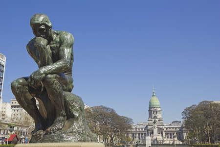 denker: De Denker van Rodin-tweede cast in de originele cast en ondertekend door Rodin zelf Buenos Aires, Argentinië Stockfoto