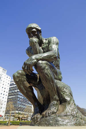 The Thinker by Rodin-second cast in the original cast and signed by Rodin himself  Buenos Aires, Argentina