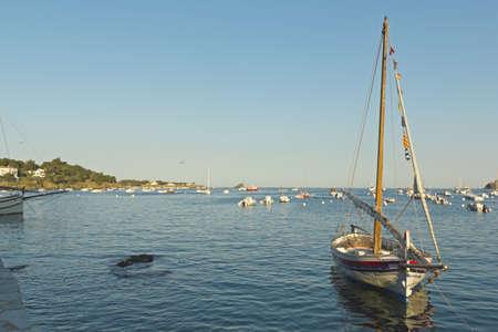 Mediterranean fishing boat  The Village of cadaques, Costa Brava, Catalonia, Spain  photo