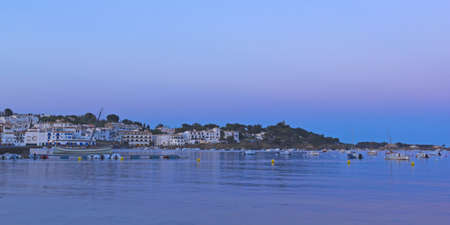 View of a typical whitewashed village of  Spanish Mediterranean  catalonia, photo