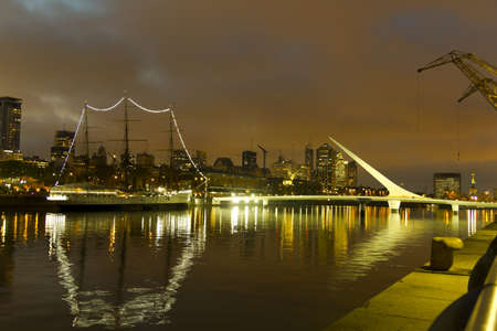 The maritime zone in Buenos Aires by night  Argentina  photo