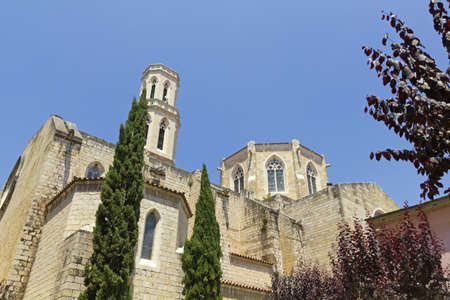 saint peter: Church of Saint Peter in Figueres, Catalonia, Spain  Century Gothic church XII-XV