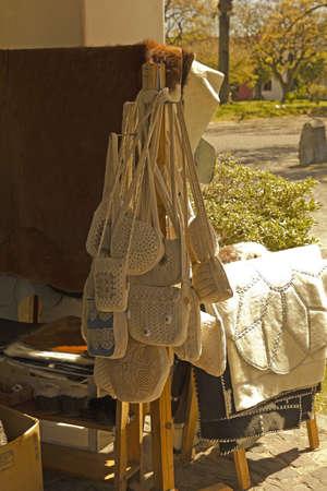 artisanry: Work in thread  Uruguayan textile industry  Souvenirs Uruguayans in Colonia del Sacramento, Uruguay