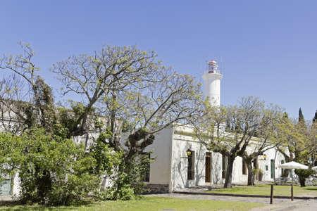 colonia del sacramento: Lighthouse in Colonia del Sacramento, small colonial town, Uruguay