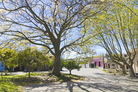 Colonia de Sacramento square, on the banks of the Silver River, Uruguay Imagens - 21441594