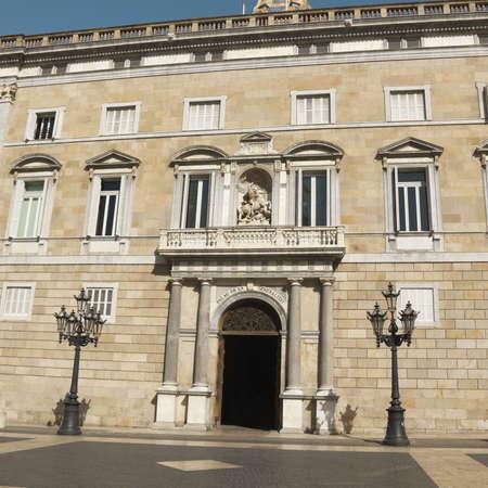 polity: Palau de la Generalitat, Government office address of Catalonia, Barcelona  Stock Photo