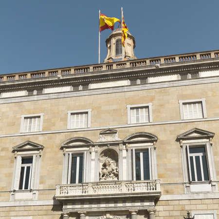 generalitat: Palau de la Generalitat, Government office address of Catalonia, Barcelona  Stock Photo