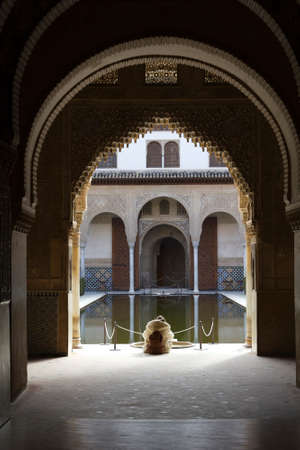 Silence and tranquility in the Alhambra  Granada, Spain  photo