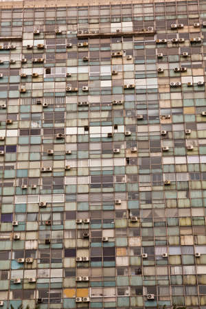 Seamless texture resembling windows of a modern skyscraper photo