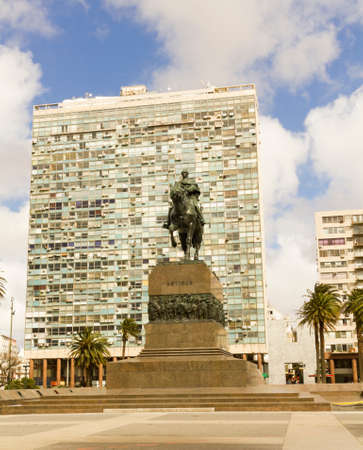 artigas: Statue of General Artigas in Plaza Independencia, Montevideo, Uruguay